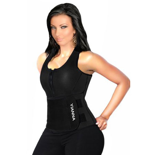 3819f1878c  3  YIANNA Neoprene Sauna Suit Tank Top Vest with Adjustable Shaper Waist  Trainer Belt